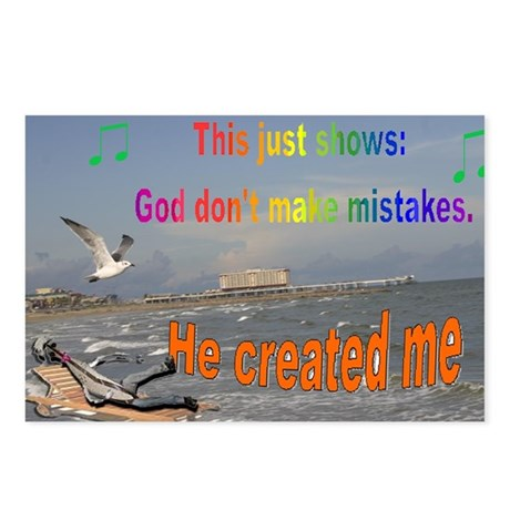 God don't make mistakes Postcards (Package of 8)