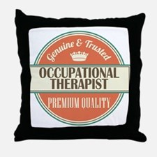occupational therapist vintage logo Throw Pillow