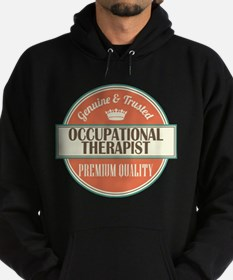 occupational therapist vintage logo Hoodie (dark)