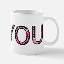 i love you pink sparkly diamond Mugs