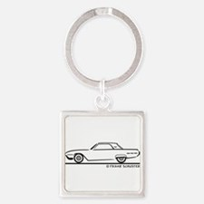 Cute Tbird Square Keychain