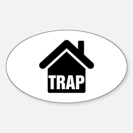 Cute Gangsta thug gangster ghetto hood Sticker (Oval)
