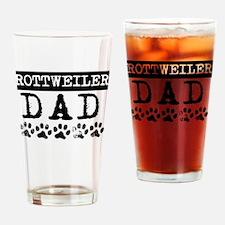 Rottweiler Dad Drinking Glass
