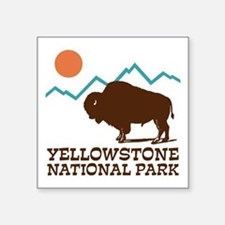 "Yellowstone National Park Square Sticker 3"" X"