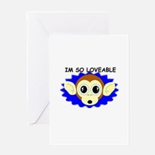 i'm so loveable birthday Greeting Card