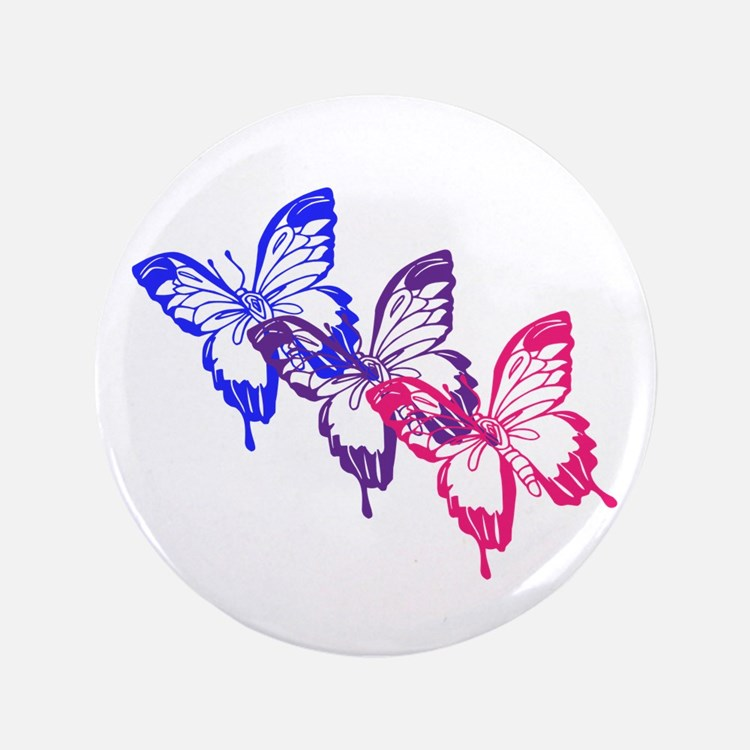 """Bisexual Butterfly 3.5"""" Button (100 pack)"""
