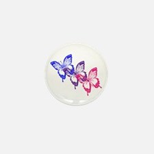 Bisexual Butterfly Mini Button (10 pack)