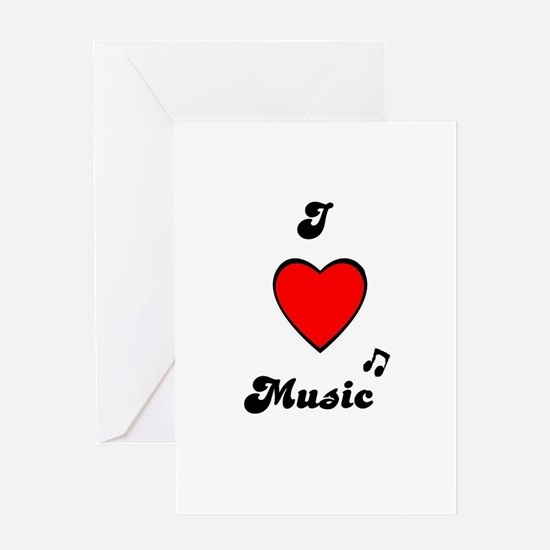 I LOVE MUSIC BIRTHDAY Greeting Card