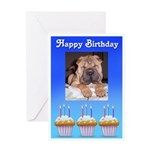 happy birthday charpei look Greeting Card