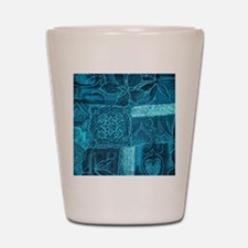 BLUE PATCHWORK Shot Glass