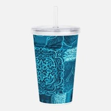 BLUE PATCHWORK Acrylic Double-wall Tumbler