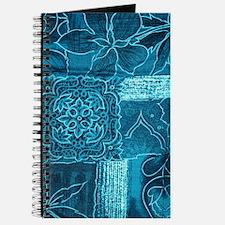 BLUE PATCHWORK Journal