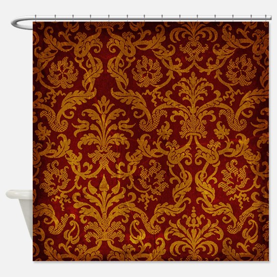 red and gold shower curtain. ROYAL RED AND GOLD Shower Curtain Red Curtains  CafePress