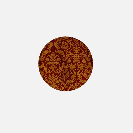 ROYAL RED AND GOLD Mini Button
