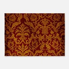ROYAL RED AND GOLD 5'x7'Area Rug