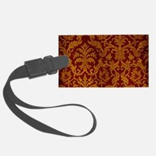 ROYAL RED AND GOLD Luggage Tag