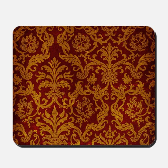 ROYAL RED AND GOLD Mousepad