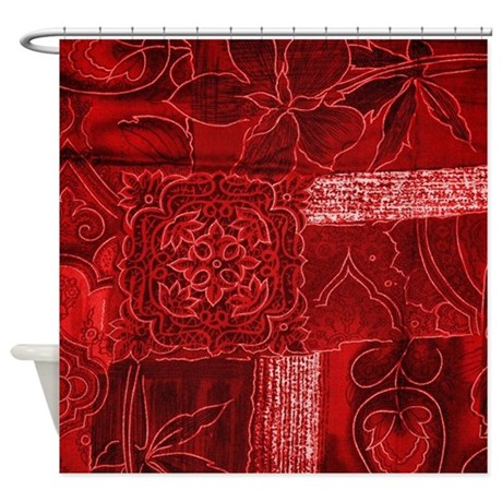 RED PATCHWORK Shower Curtain By TrendiTextures