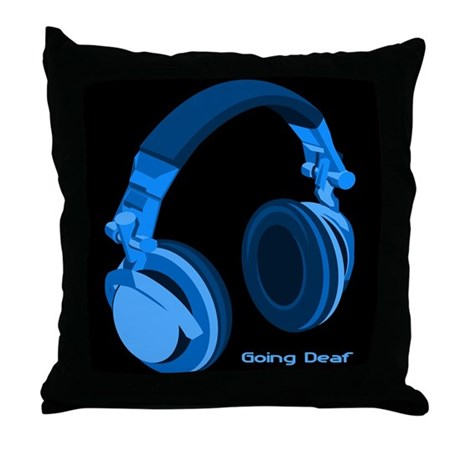 Going Deaf DJ Throw Pillow