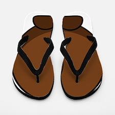 Cartoon Gnu Back Flip Flops