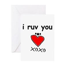 i ruv you birthday Greeting Card