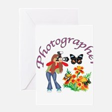Photographer Photographing Nature Greeting Cards