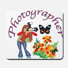 Photographer Photographing Nature Mousepad