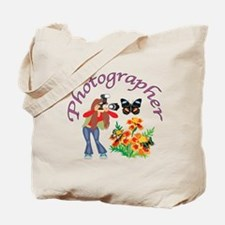 Photographer Photographing Nature Tote Bag