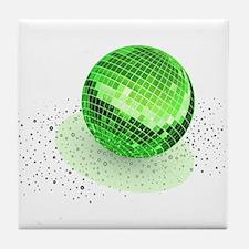 Emerald disco ball Tile Coaster