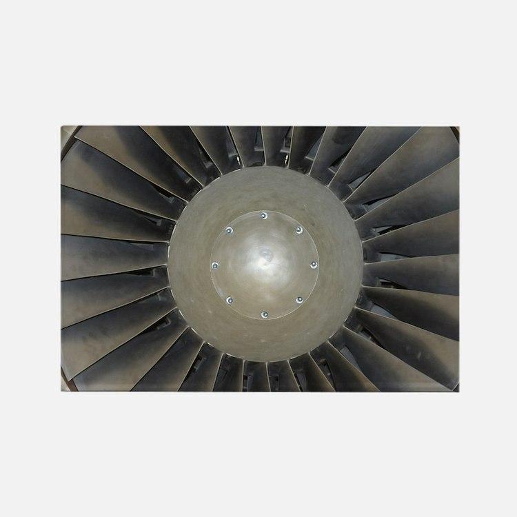 Cute Jet engine Rectangle Magnet