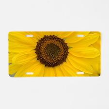 Unique Sunflower Aluminum License Plate