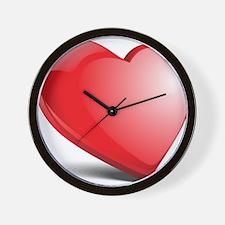 3d realistic hearth Wall Clock