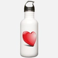 3d realistic hearth Sports Water Bottle