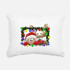 NEW! Sneaky Santa and R Rectangular Canvas Pillow