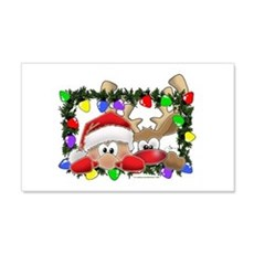 NEW! Sneaky Santa and Rudolph Wall Decal
