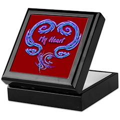 My Heart Red Keepsake Box