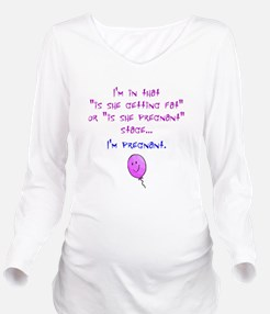 Funny Not fat pregnant Long Sleeve Maternity T-Shirt