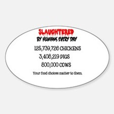Animals Slaughtered Every Day Decal