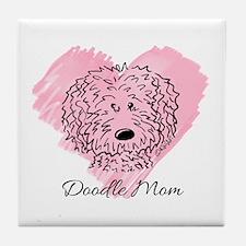 KiniArt Doodle Mom Tile Coaster