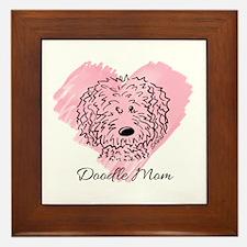KiniArt Doodle Mom Framed Tile