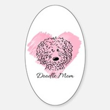 KiniArt Doodle Mom Sticker (Oval)