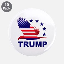 """Trump For America 3.5"""" Button (10 pack)"""