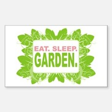 Eat. Sleep. Garden. Rectangle Decal