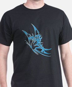 Butterfly faded hand painted T-Shirt