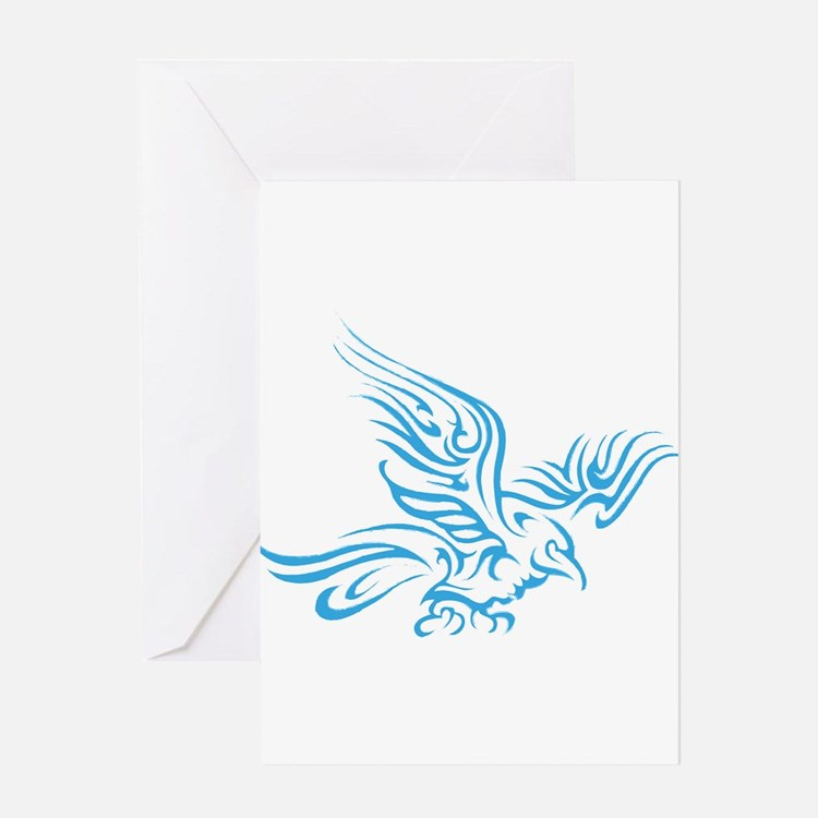 Crow Tribal Painting Faded Greeting Cards