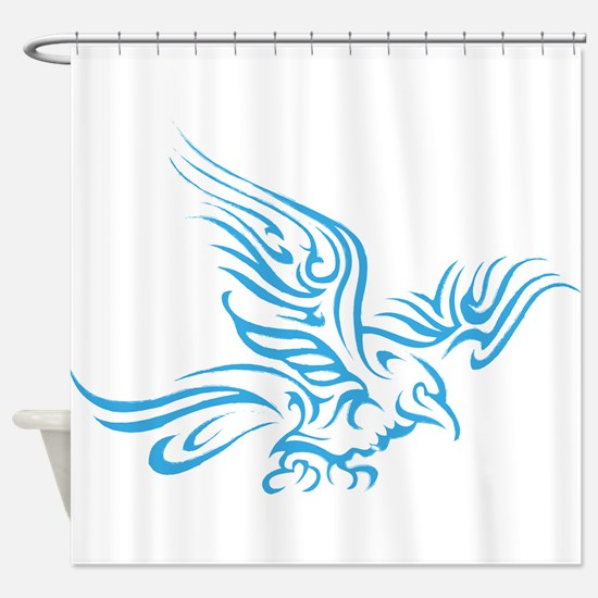 Crow Tribal Painting Faded Shower Curtain