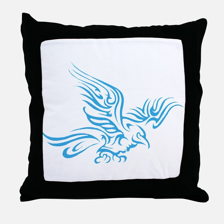 Crow Tribal Painting Faded Throw Pillow