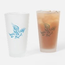 Crow Tribal Painting Faded Drinking Glass