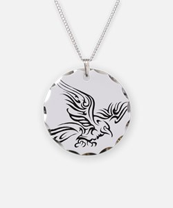 Crow Tribal Painting Faded Necklace
