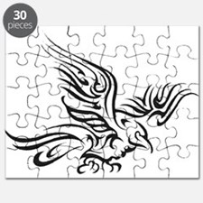 Crow Tribal Painting Faded Puzzle